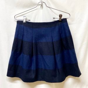 Madewell - Mayle Wool Blend Striped Pleated Skirt
